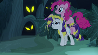 Rarity and Pinkie Pie in the Everfree Forest S7E19