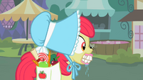 Apple Bloom with bee on nose S2E12
