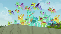 Changelings appear to help Pharynx S7E17