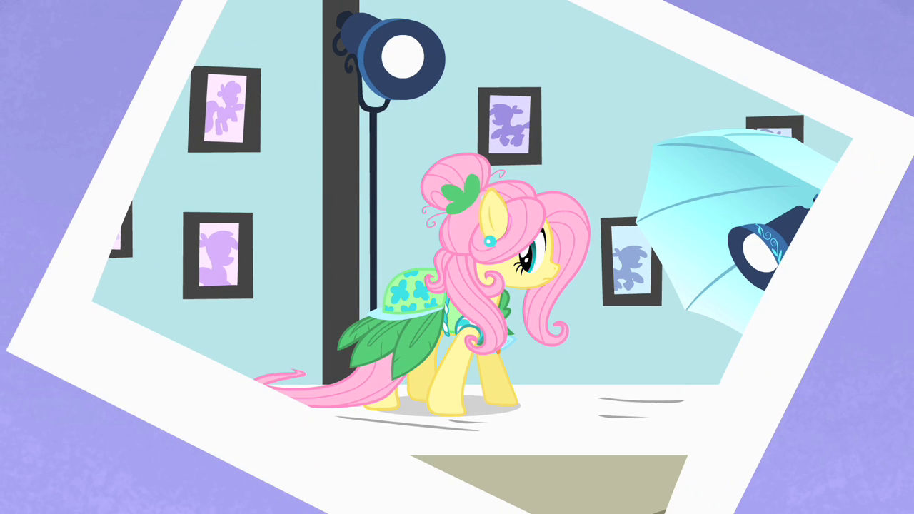 Photo of Fluttershy wearing a dress S1E20.png