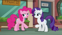Pinkie --I can sneak away to pick out a rock pouch!-- S6E3