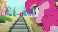 Pinkie Pie shouting Fluttershy's name S4E11