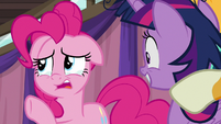 """Pinkie teary-eyed """"from over there"""" S9E16"""