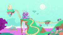 Wide view of road to Rarity's house PLS1E2b