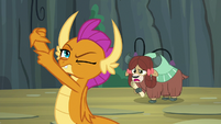 Yona asks what Smolder is doing S9E3
