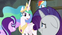 "Celestia ""no longer in that role"" S8E7"