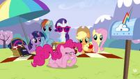 Pinkie Pie clenching teeth S3E7