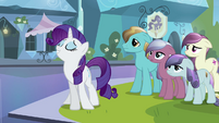 Rarity acting like she is a Crystal Pony S3E1