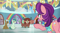 Spoiled Rich substitutes in Rainbow's class S9E20