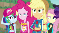Sunset Shimmer's friends don't believe her EGFF