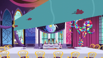 Water bursts into the summit hall S5E10