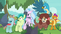 Young Six glaring back at their teachers S8E9