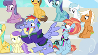 Bow and Windy cheering for filly Rainbow Dash S7E7