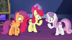 Cutie Mark Crusaders turned into adults S9E22.png