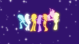 Main cast and Sunset Shimmer human silhouettes EG2.png