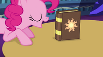 Pinkie Pie points out the book again EG2