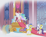S01E03 Celestia i Rarity w pałacu