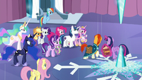 Sunburst looks at the other ponies S6E2