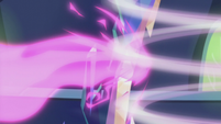 Twilight's blast bounces off the magic wall S5E25