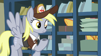 Derpy with ink on her hoof S8E10