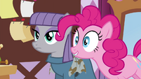 "Pinkie Pie ""Doesn't Maud make the coolest scarves?"" S4E18"
