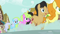 Ponies going to the back of the line S02E19