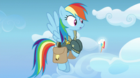 Rainbow Dash's cutie mark floating in the air S6E24
