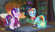 Snowfall Frost giving Snowdash a broom S6E8.png