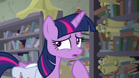 Twilight thinking for a moment S9E5