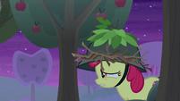 Apple Bloom running past apple trees S9E10