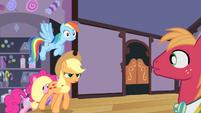 Applejack confronting Big Mac S4E14