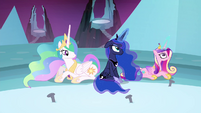 Luna and Cadance have their magic back S4E26