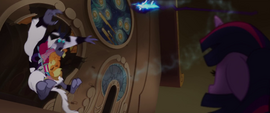 Main ponies fly into the Storm King MLPTM