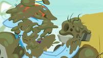 Rainbow Dash gets splattered with sludge S7E23