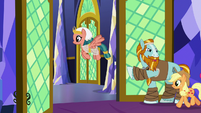Applejack and Somnambula leave the throne room S7E26