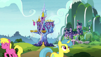 Exterior view of Twilight's castle and school S8E23