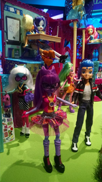 NYTF 2015 Canterlot High playset with EG dolls