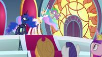 Princess Celestia reads Star Swirl's letter S8E25