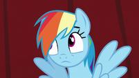 Rainbow rolls her eyes S5E15