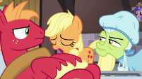 Young Applejack heaves a heavy sigh S6E23