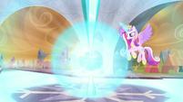 Crystal Heart radiating energy outward S9E1