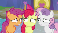 Cutie Mark Crusaders very worried S8E12
