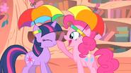 Pinkie honking Twilight's nose S1E15