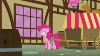 Pinkie looks through the window S5E19