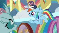 """Rainbow """"you can come up with cheers"""" S9E15"""