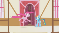 Rainbow Dash and hiccuping Pinkie Pie S1E5