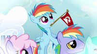 Rainbow Dash with her father S03E12