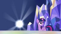 Spark of light being smiling Twilight S5E22