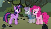 Twilight apologizing to Pinkie S4E18