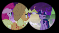 View of Twilight in Discord's binoculars S9E17